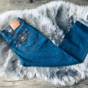 Levi's 501 Mid Rise Tapered Fit Jeans